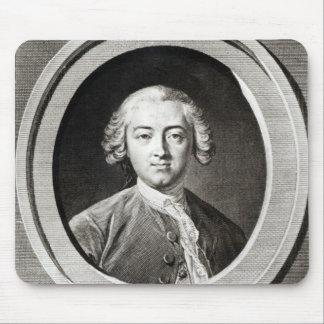 Portrait of Claude Adrien Helvetius  french Mouse Pad