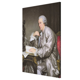 Portrait of Claude-Henri Watelet  1763-65 Canvas Print