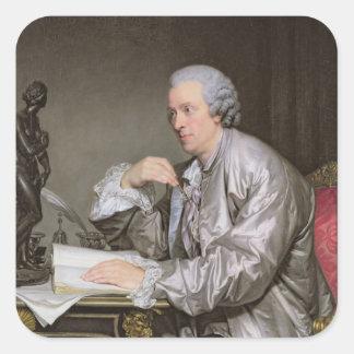 Portrait of Claude-Henri Watelet  1763-65 Square Sticker