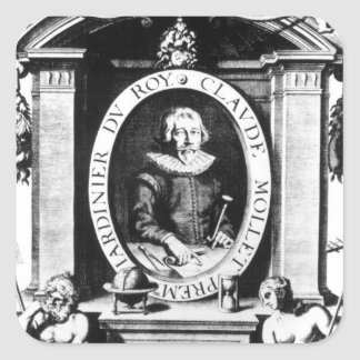 Portrait of Claude Mollet, frontispiece to 'Theatr Square Sticker