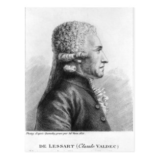 Portrait of Claude Valdec de Lessart Postcard