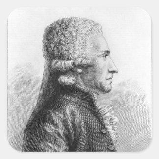 Portrait of Claude Valdec de Lessart Square Sticker