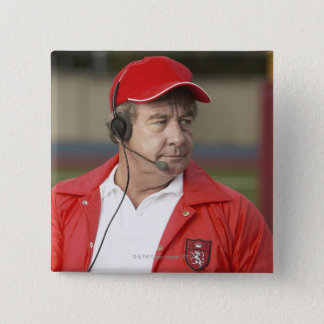 Portrait of Coach 15 Cm Square Badge