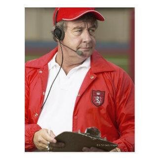 Portrait of Coach Postcard