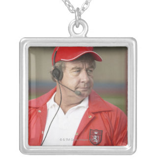 Portrait of Coach Silver Plated Necklace