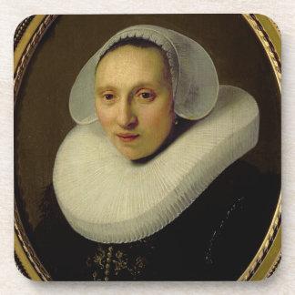 Portrait of Cornelia Pronck, Wife of Albert Cuyper Beverage Coaster