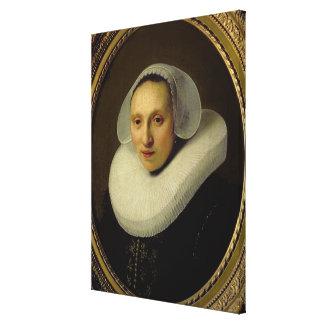 Portrait of Cornelia Pronck, Wife of Albert Cuyper Canvas Print