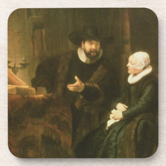 Portrait of Cornelius Anslo and his Wife, 1641 (oi Coaster