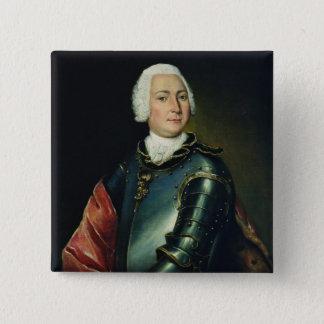 Portrait of Count Ernst Christoph von Manteuffel 15 Cm Square Badge