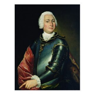 Portrait of Count Ernst Christoph von Manteuffel Postcard