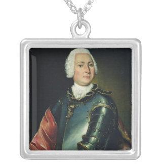 Portrait of Count Ernst Christoph von Manteuffel Silver Plated Necklace