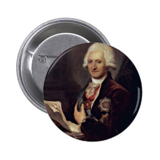 Portrait Of Count Johann Jakob Sievers By Grassi J 6 Cm Round Badge
