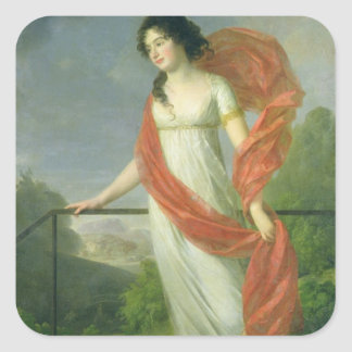 Portrait of Countess Theresia Fries , 1801 Square Sticker