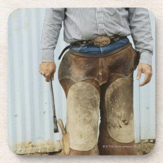Portrait of Cowboy Blacksmith Drink Coasters