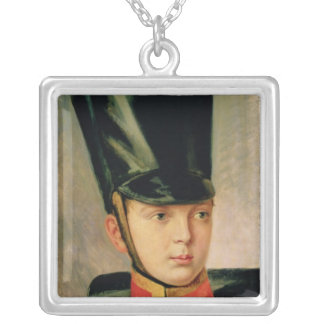 Portrait of Crown Prince Alexander Silver Plated Necklace