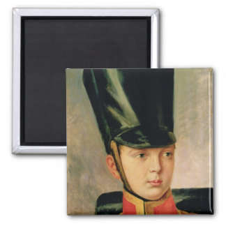 Portrait of Crown Prince Alexander Square Magnet