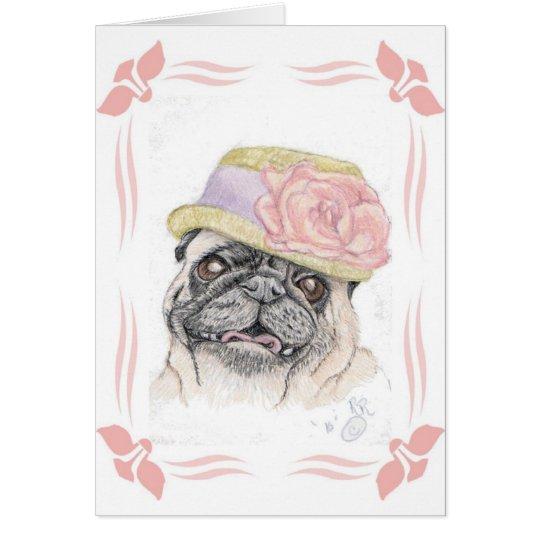 Portrait of Dandy in a Hat - art by Michelle Card