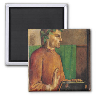 Portrait of Dante Alighieri , c.1475 Square Magnet