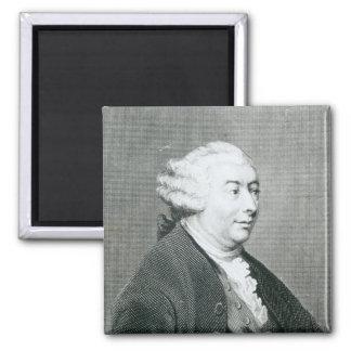 Portrait of David Hume Square Magnet