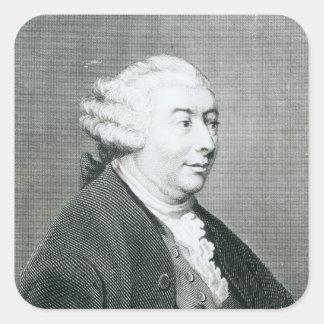 Portrait of David Hume Square Sticker