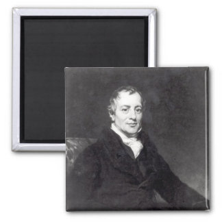 Portrait of David Ricardo Square Magnet