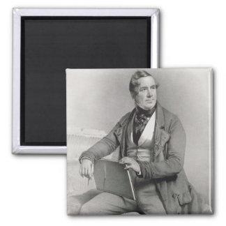 Portrait of David Roberts (1796-1864) frontispiece Square Magnet