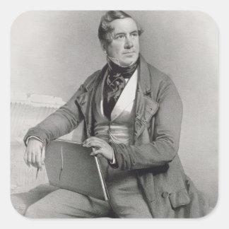Portrait of David Roberts (1796-1864) frontispiece Square Sticker