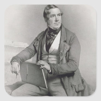 Portrait of David Roberts (1796-1864) frontispiece Square Stickers
