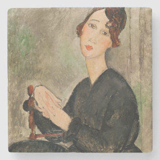 Portrait of Dedie Hayden, 1918 Stone Beverage Coaster