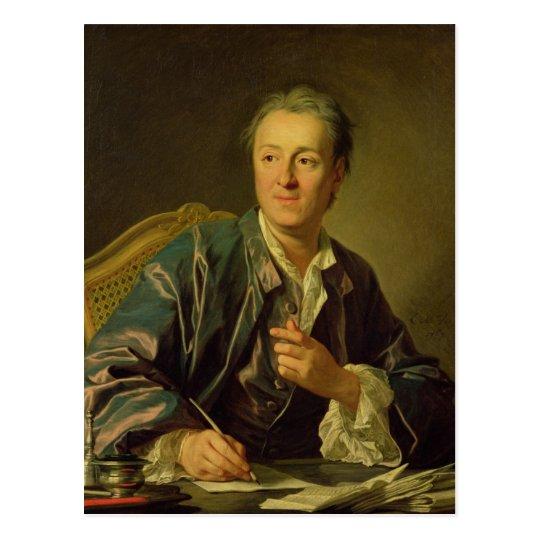 Portrait of Denis Diderot  1767 Postcard