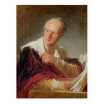 Portrait of Denis Diderot  c.1769 Post Card