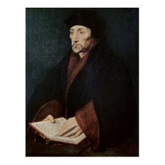 Portrait of Desiderius Erasmus  of Rotterdam Postcard