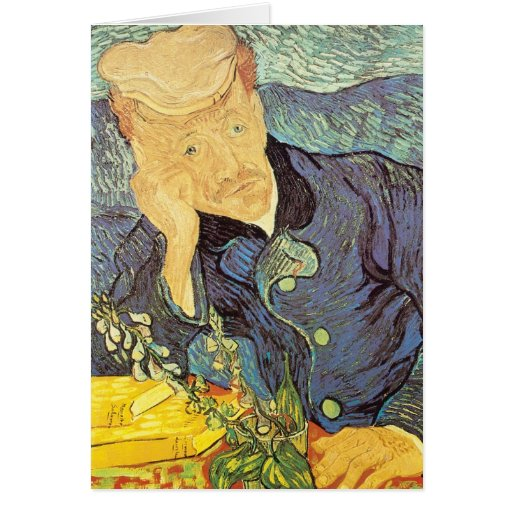 Portrait of Doctor Gachet by Vincent van Gogh Greeting Card