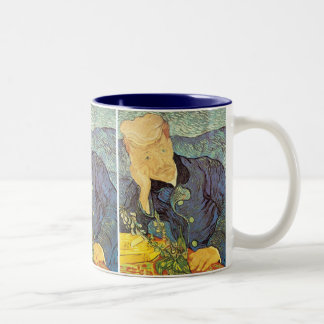 Portrait of Doctor Gachet by Vincent van Gogh Two-Tone Coffee Mug