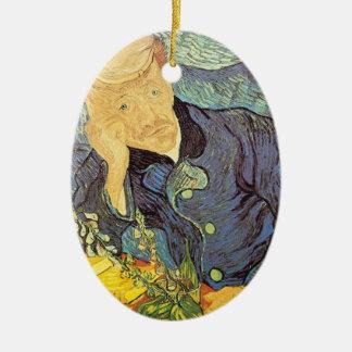 Portrait of Doctor Gachet by Vincent van Gogh Ornaments