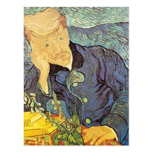 Portrait of Doctor Gachet by Vincent van Gogh Postcard