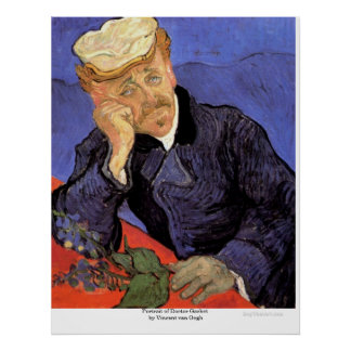 Portrait of Doctor Gachet by Vincent van Gogh Poster