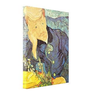 Portrait of Doctor Gachet by Vincent van Gogh Stretched Canvas Print