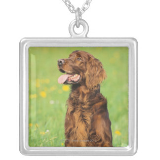Portrait of Dog 2 Silver Plated Necklace