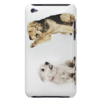 Portrait of dog waving at another dog barely there iPod cases