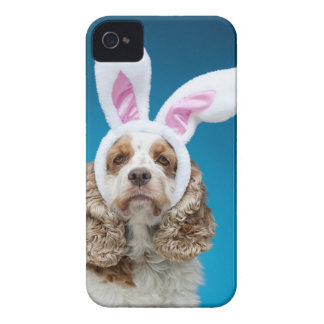 Portrait of dog wearing Easter bunny ears iPhone 4 Cover