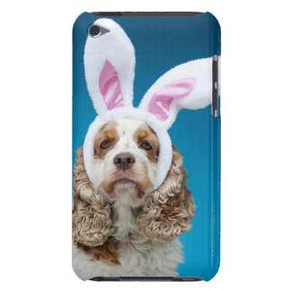 Portrait of dog wearing Easter bunny ears iPod Case-Mate Case