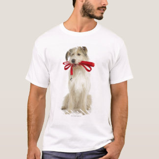Portrait of Dog with Leash T-Shirt