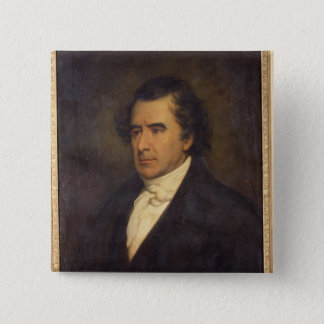 Portrait of Dominique Francois Jean Arago  1842 15 Cm Square Badge