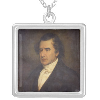 Portrait of Dominique Francois Jean Arago  1842 Silver Plated Necklace