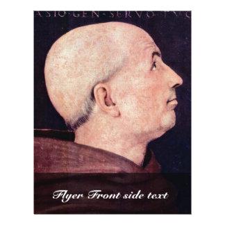 Portrait Of Don Biagio Milanesi By Perugino Pietro 21.5 Cm X 28 Cm Flyer