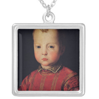 Portrait of Don Garcia Silver Plated Necklace