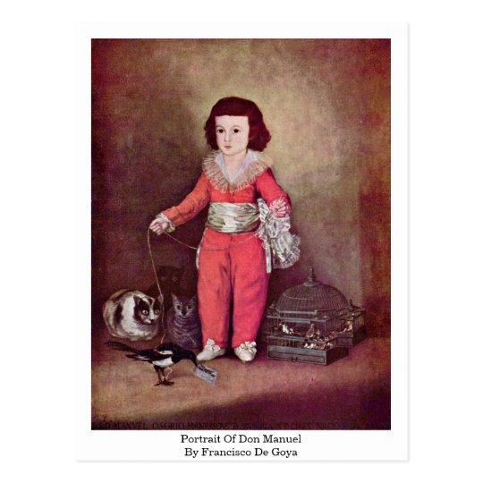 Portrait Of Don Manuel By Francisco De Goya