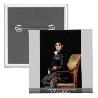 Portrait Of Doña Teresa Sureda 15 Cm Square Badge