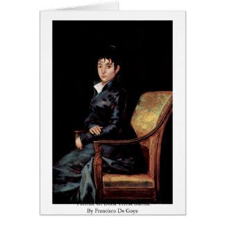 Portrait Of Doña Teresa Sureda Greeting Card